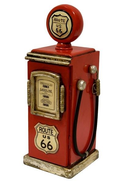 Designový stojan na CD - Benzínová pumpa Route 66