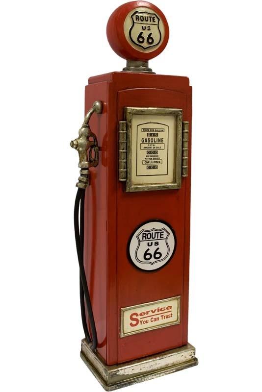 Designový stojan na CD - Benzínová pumpa Route 66 L Red