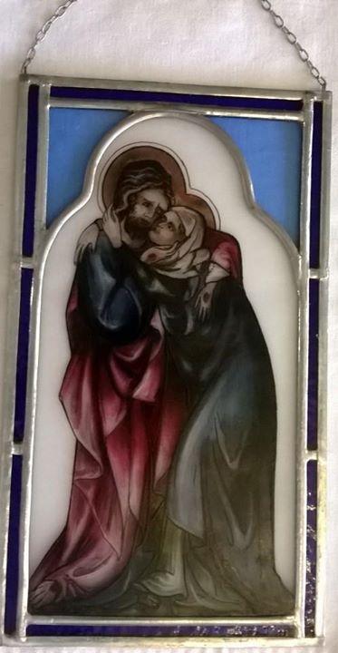 Závěsná skleněná vitráž Ježíš