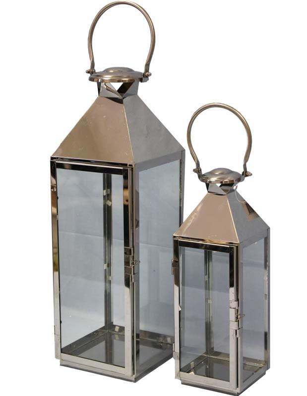 Kovové lucerny sada Metal 1+1