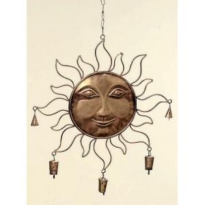 Kovové slunce se zvonky - krátké paprsky