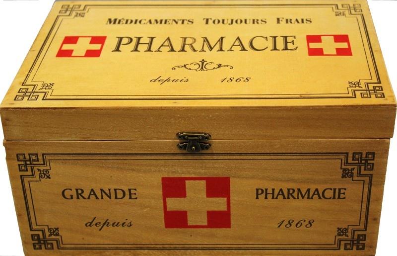 Dřevěná skříňka - Lékárnička Pharmacie Grande