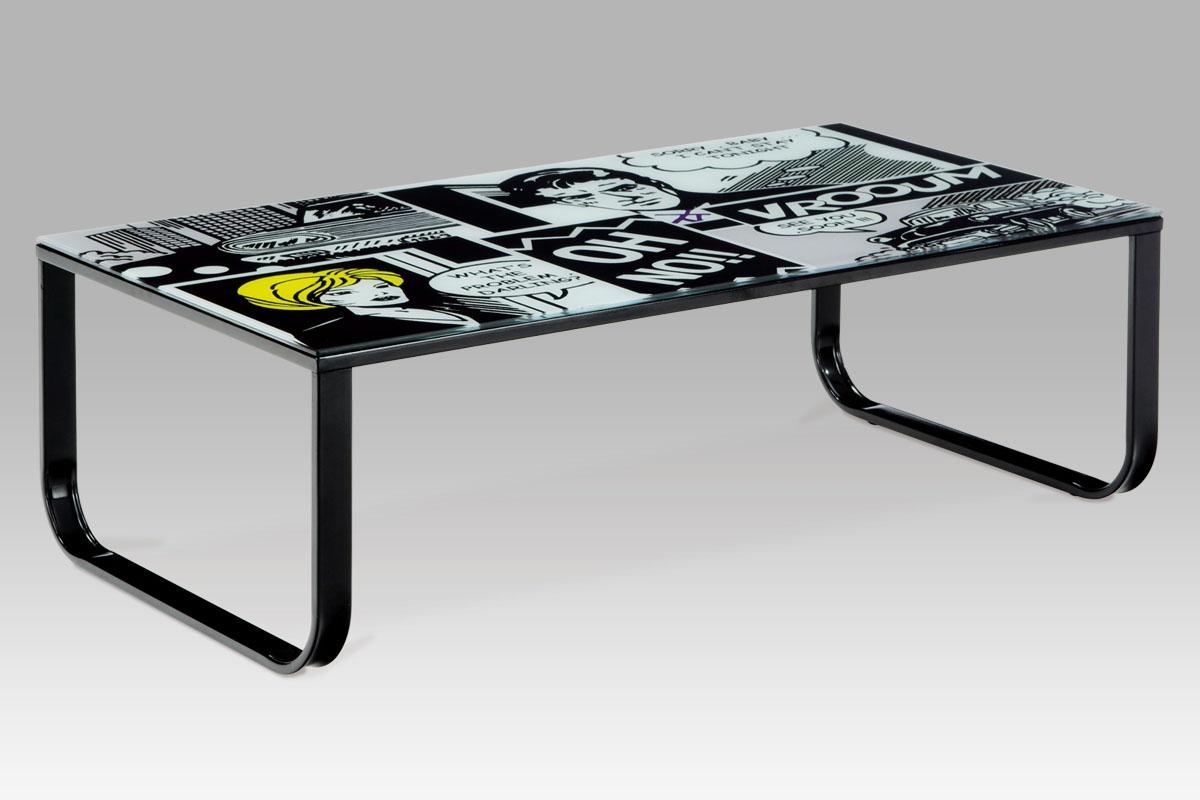 Kovový konferenční stolek Pop art