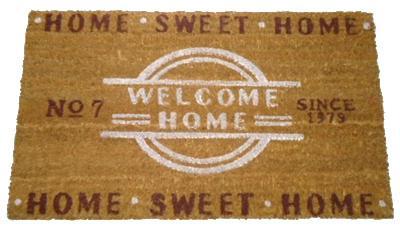 Rohož před dveře Welcome home