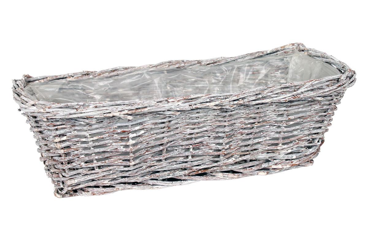 Proutěný truhlík šedý