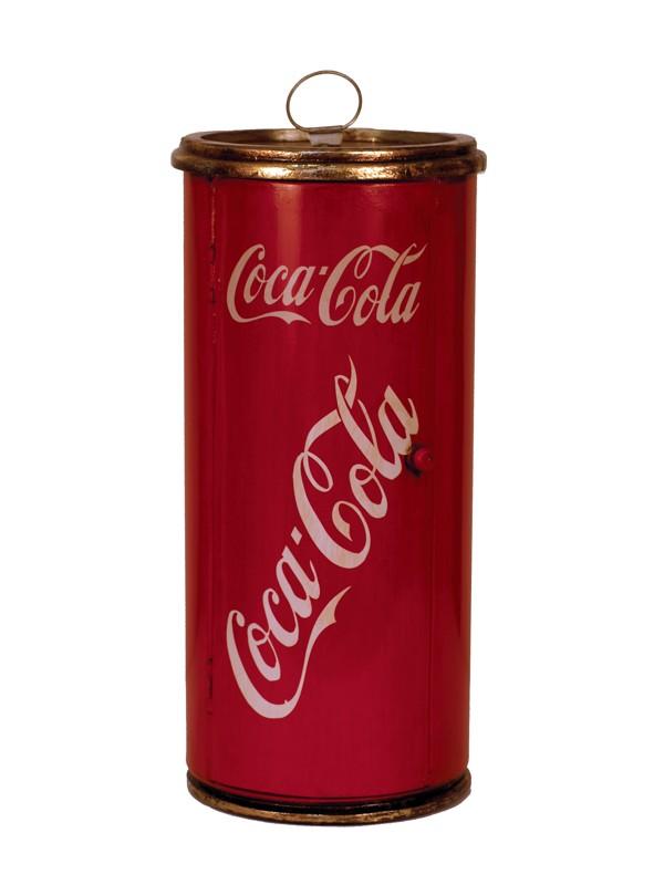 Designový stojan na CD - plechovka Coca-coly