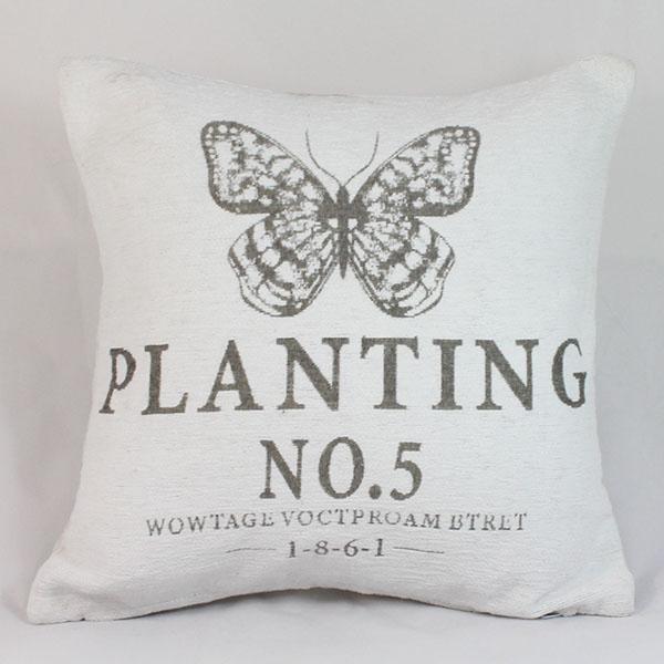 Povlak na polštář Planting NO.5 bílý ušpiněno