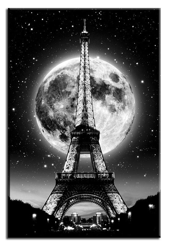 Obraz na zeď Paris - Eiffelovka Moon