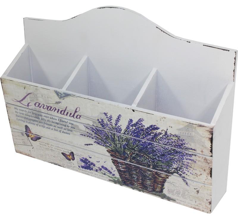 Dřevěná krabička - box Levandule
