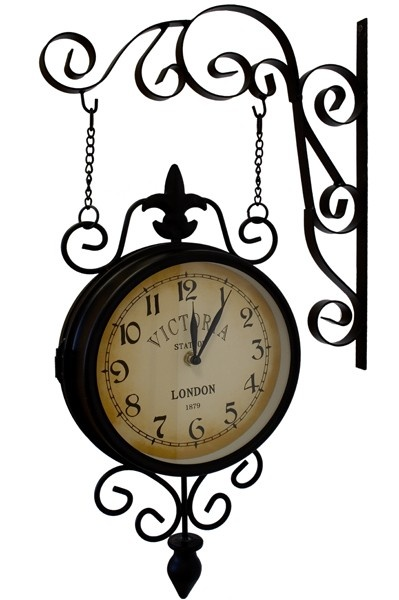 Nádražní hodiny oboustranné Victoria