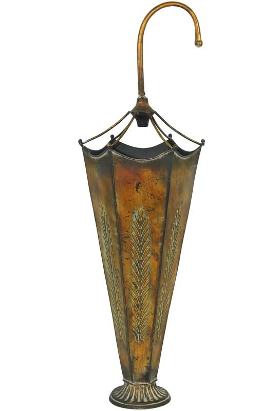 Kovový stojan na deštníky Listy
