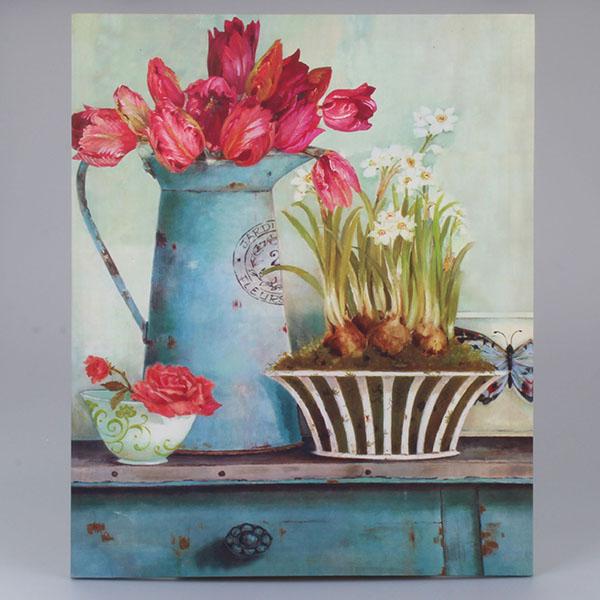 Obraz na plátně Tulipány ve džbánu