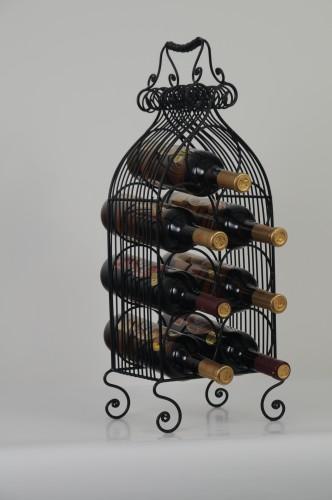 Kovový stojan na 7 lahví Barok zlatá