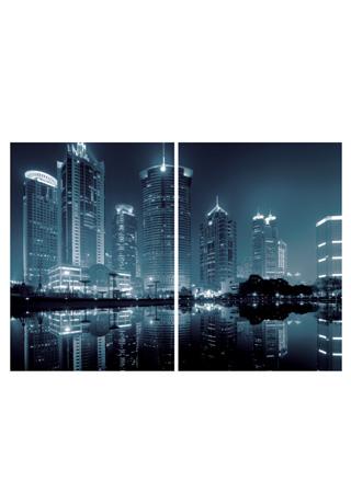 Skleněný obraz Noční město - 2 díly