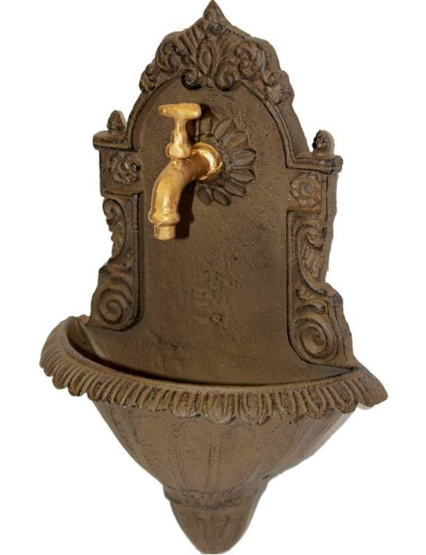 Litinové umyvadlo s kohoutkem Decoration