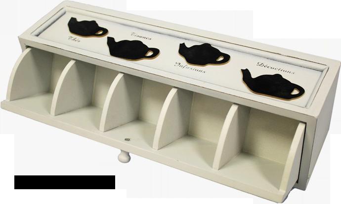 Dřevěná skříňka na čaj