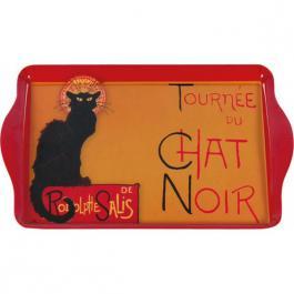 Plechový tác - Chat Noir - kočka poškozeno