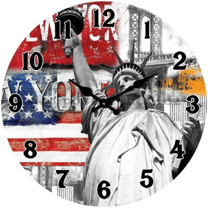 Hodiny na zeď Socha svobody - New York