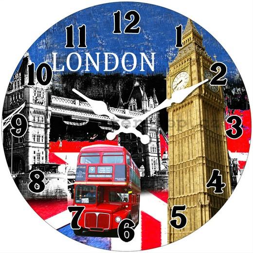 Hodiny na zeď London bus Big Ben