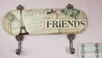 Kovový věšák Friend - Paris