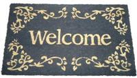 Rohožka před dveře Welcome šedá