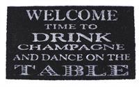 Rohožka před dveře Welcome time to drink
