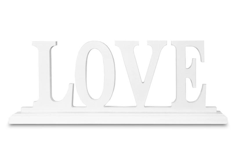 Dekorace Love poškozeno