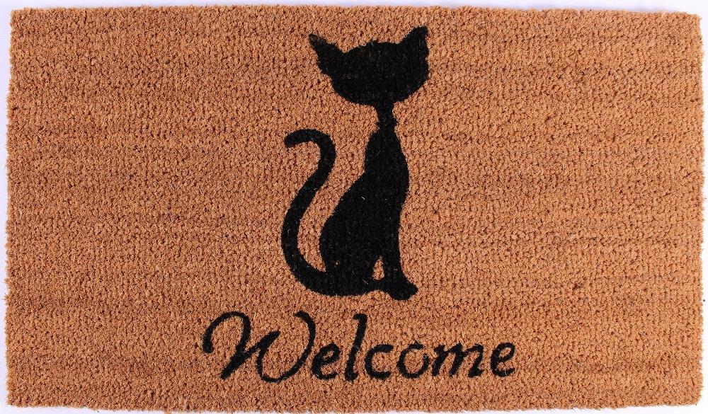 Rohožka před dveře Welcome Kočka
