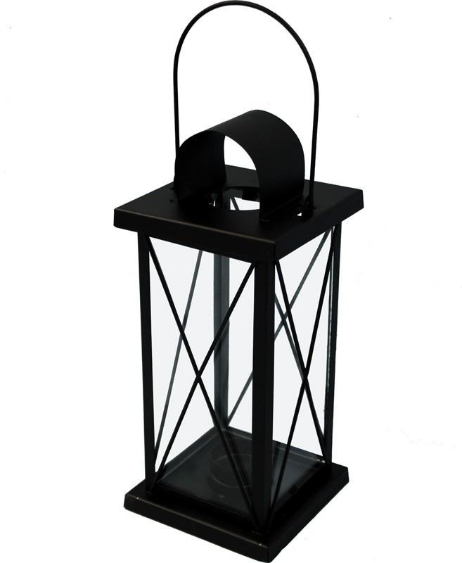 Kovová lucerna černá Cassa S