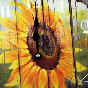 Kulaté hodiny Slunečnice na zeď