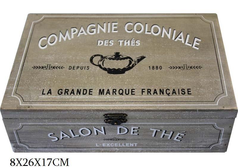 Dřevěná skříňka - na čaj Thés