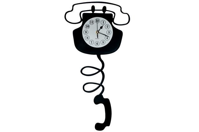 Kovové maxi hodiny Telefon