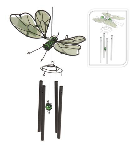 Kovová zvonkohra Motýl bílá
