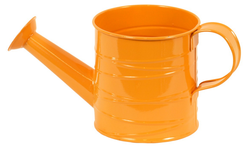 Plechová konvička oranžová L