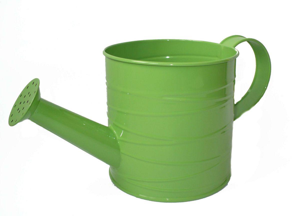 Plechová konvička zelená L