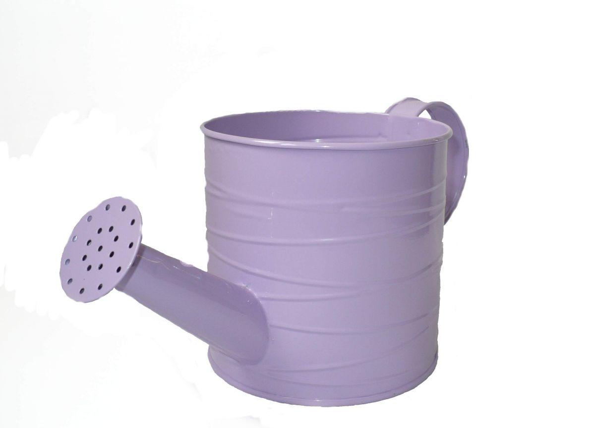 Plechová konvička fialová L