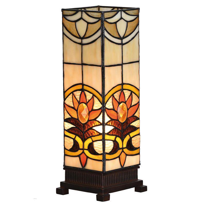Stolní vitrážová lampa Tiffany stojací Sun