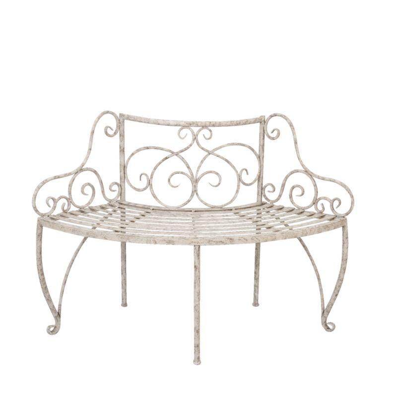 Kovová lavice - lavička Provence style kolem stromu