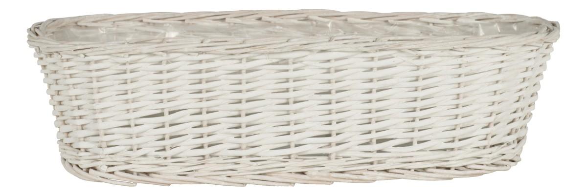 Proutěný truhlík bílý L