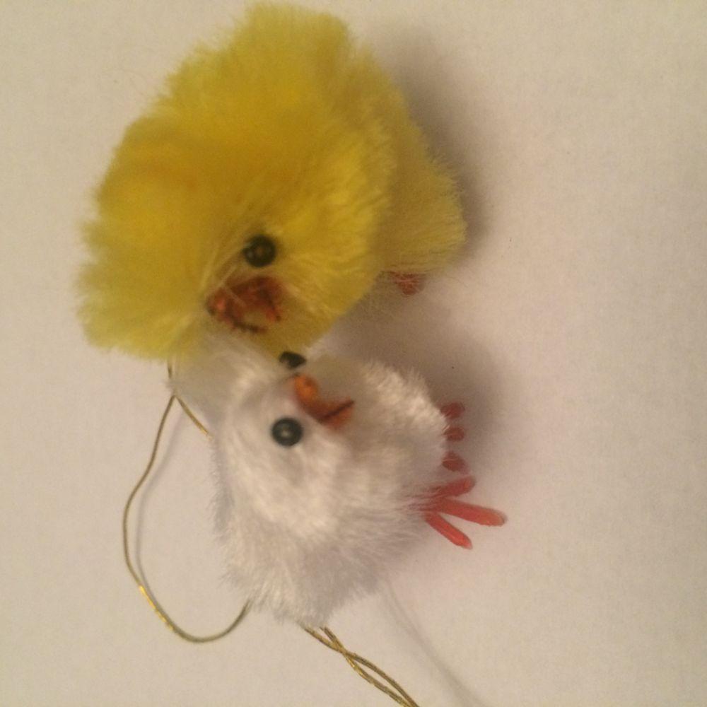 Velikonoční kuřátka 2ks žluté a bílé
