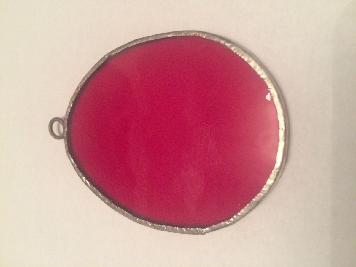 Velikonoční vitrážové vajíčko červené