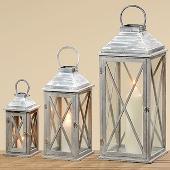 Luxusní kovové lucerny Marleine 1+1+1