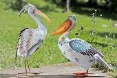 Luxusní kovový pták Plameňák