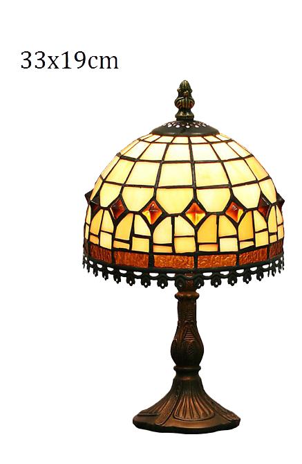 Stolní vitrážová lampa Harmony lem