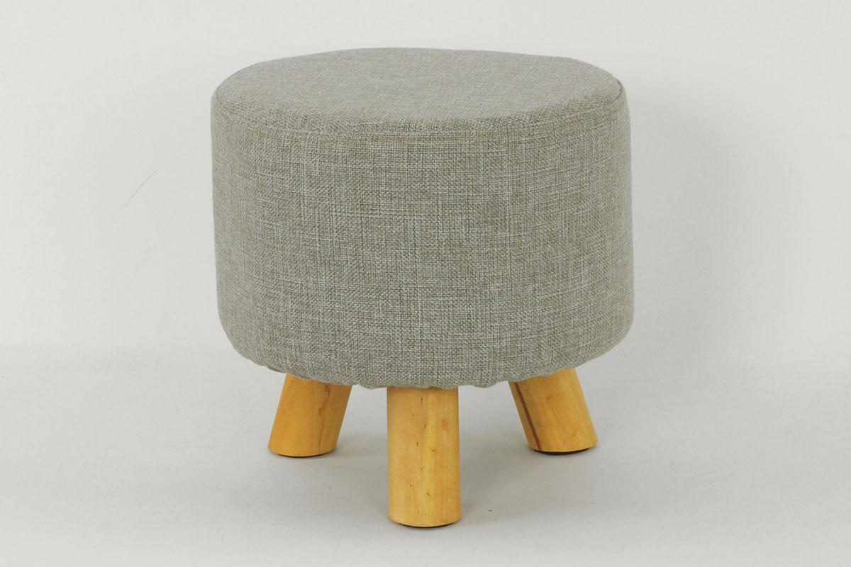 Čalouněný sedák Grey - Taburet šedý