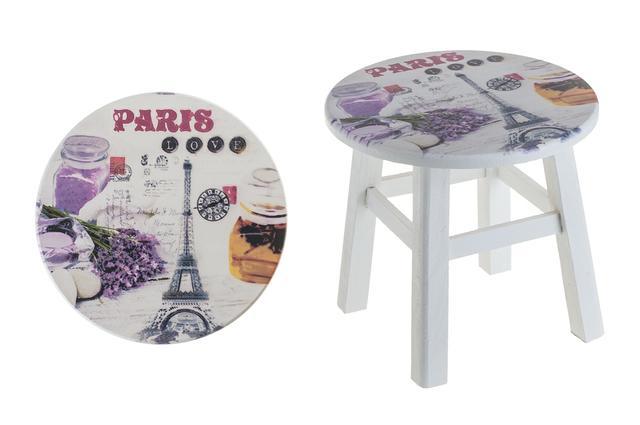 Dřevěný stojan na květinu Paris - stoleček