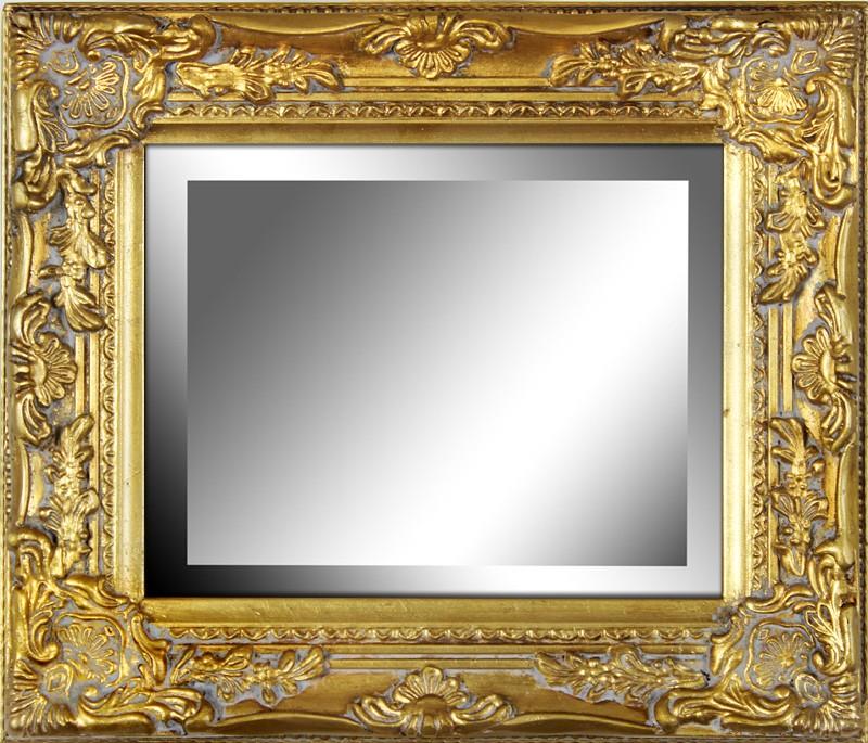 Dřevěné zrcadlo Zlatý rám Klasik