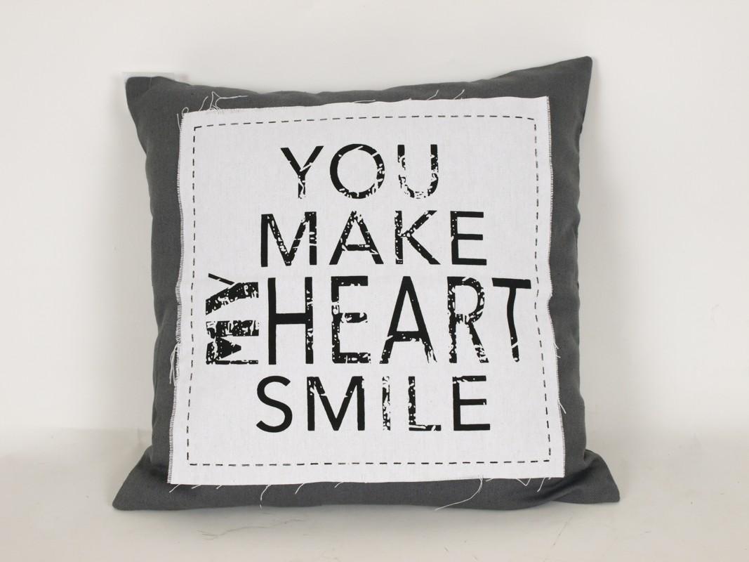 Povlak na polštář You make my hearts smile