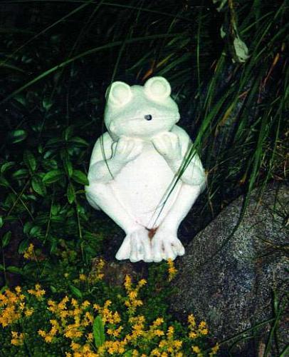 Mramorová soška - Žába k jezírku