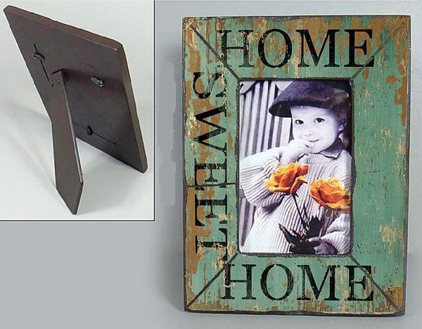 Dřevěný fotorámeček Home sweet home
